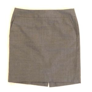 Banana Republic Light Grey Petite Pencil Skirt